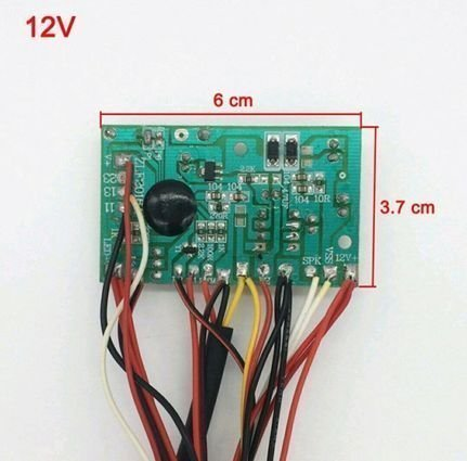 Звуковая плата на детский электромобиль 12V