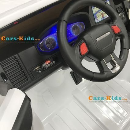 Электромобиль Range Rover XMX601-AIR 4WD 2-х местный (легко съемный акб, колеса резина, сиденье кожа, пульт, музыка)